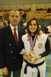COUPE DE FRANCE 2015 JC GIROT et Magda Badir,